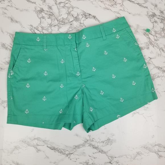 NWOT Cambridge Green Anchor Shorts Size 12